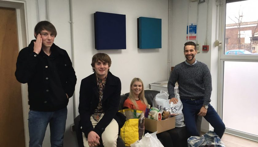 Base collects clothing and supplies for local homeless centre