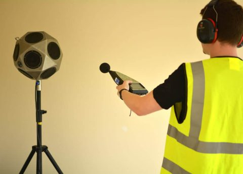 Sound Testing Machine used for measuring noise to meet building regulations on the UK